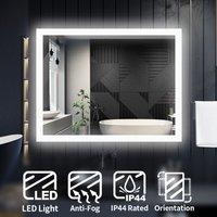 LED Illuminated Bathroom Mirror with Light 900 x 700 mm Sensor + Demister - Elegant