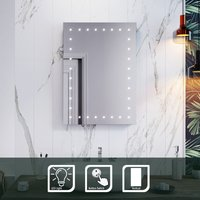 ELEGANT Modern LED Illuminated Bathroom Mirror with Light 500 x 700 mm Backlit, Sensor