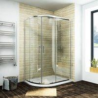 Quadrant Shower Cubicle 1000 x 800 mm Enclosure Sliding Door Easy Clean - Elegant