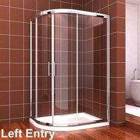 Quadrant Shower Cubicle Enclosure 1000 x 800 mm Sliding Door 6mm Easy Clean - Elegant