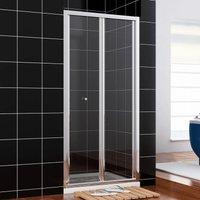 Shower Door 860mm Bifold Shower Enclosure Reversible Folding Shower Cubicle Door - Elegant