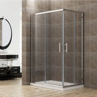 Sliding Corner Entry 1100 x 900 mm Shower Enclosure Door Cubicle with Tray - Elegant