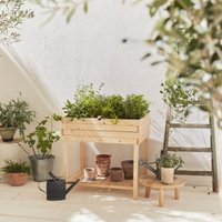 Elevated Wooden Planter, Square Garden Bed, 80x60 -