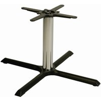 Netfurniture - Elliot Chrome Coffee, Kitchen, Dining and Poseur Height Table Base Large Coffee