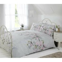 Rapport - Eloise Single Bed Duvet Cover Set with Matching Pillowcase, birds and floral