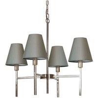 Elstead - 4 Light Pendant Chandelier with Grey Shade - ELSTEAD LIGHTING