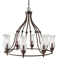 Elstead Pickering Lane - 8 Light Multi Arm Chandelier Antique Bronze Finish, E14 - ELSTEAD LIGHTING