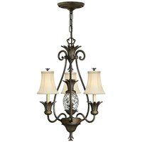 Elstead Plantation - Multi Arm Chandelier 3 Light Pearl Bronze Finish, E14 - ELSTEAD LIGHTING