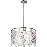 Elstead Lexi - 3 Light Round Ceiling Pendant Polished Nickel