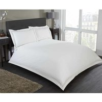 Embroidered Single Duvet Quilt Cover and 1 Pillowcase Bedding Bed Set Cream