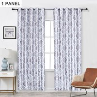 Embroidery Jacquard Curtain Blackout Curtains Window Curtains for Bedroom Living Room (40,model: Gray 40x 98