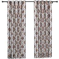 Embroidery Jacquard Curtain Blackout Curtains Window Curtains for Bedroom Living Room (40,model:Coffee Coffee 40x 52