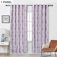 Embroidery Jacquard Curtain Blackout Curtains Window Curtains for Bedroom Living Room (40,model:Purple Purple 40