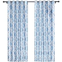 Embroidery Jacquard Curtain Blackout Curtains Window Curtains for Bedroom Living Room (40x 52,Blue),model:Blue Blue 40x 52