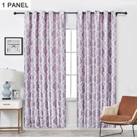 Embroidery Jacquard Curtain Blackout Curtains Window Curtains for Bedroom Living Room (40x 52,Purple),model:Purple Purple 40x 52