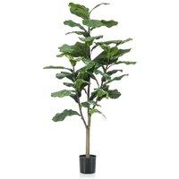 Emerald Artificial Ficus Lyrata 120 cm - Green