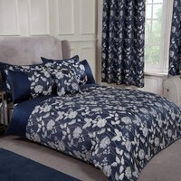 S.green - Emma Barclay Butterfly Meadow Duvet King Bed Navy, 100% Polyester