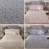 S.green - Emma Barclay Duchess Duvet King Bed, 100% Polyester, Blush Pink