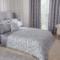 Emma Barclay Duchess Duvet King Bed Silver, 100% Polyester