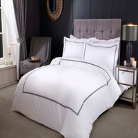 Emma Barclay Mayfair Duvet Set Double Bed Graphite, Cotton | 50% Polyester