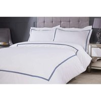 Emma Barclay Mayfair Duvet Set Double Bed Navy, Cotton | 50% Polyester