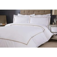 Emma Barclay Mayfair Duvet Set Double Bed Taupe, Cotton | 50% Polyester