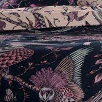 Emma J Shipley Aububon Navy Super King Size Duvet Cover Reversible Bedding - CLARKE and CLARKE