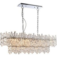 Endon Lighting Maya - Pendant Chrome Effect Plate and Clear