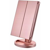 Enlightened courtesy mirror, magnification 1x / 2x / 3x, folding courtesy mirror, female, USB charging function, 180 degree adjustable support for