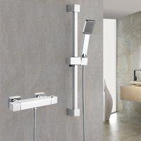 Erona Thermostatic Slider Rail Bar Shower Mixer Valve + Slider Rail Kit