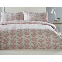 Escada Coral Double Duvet Cover Set Reversible Quilt Bedding - BEDMAKER
