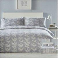 Escada Grey Tulip Single Duvet Cover Set Bedding Bed Set Reversible