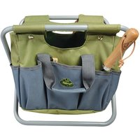 Esschert Design Garden Tool Bag and Stool Grey GT85 - Grey