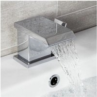 Architeckt - Essentials Waterfall Basin Sink Mixer Tap Square Chrome Single Lever
