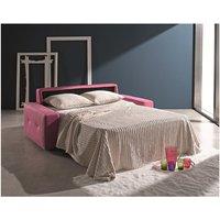Designer Sofas 4 U - Ettore 2 Seater Italian Fabric Sofa Bed Pink