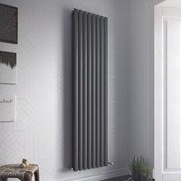 Nova Duo Tube Double Panel Vertical Designer Radiator White 1800mm X 584mm - Eucotherm
