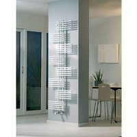 Parallel Single Vertical Designer Towel Rail White 1762mm X 650mm - Eucotherm