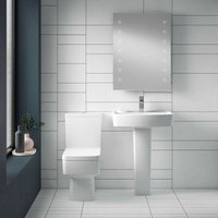 Euro Toilet and Basin Bathroom Suite - 1 Tap Hole - NUIE