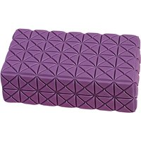 EVA Yoga Block Thick Non Slip Gym Foam Brick Yoga Bolster Pillow Cushion for Beginners and Advanced Pilates Meditation Accessories Aid for Support