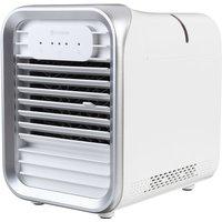 Evaporative Air Conditioner Mini Fan Cooler LED White - AUGIENB