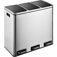 Evre Stainless Steel Recycling Pedal Bin With Removable Mult