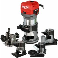 710W Electric Wood Hand Trimmer/Router 240V with Multiple Base:240V - Excel