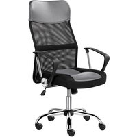 Executive High Back Mesh Office Chair Ergonomic Computer Desk Chair Height Adjustable and Swivel Chair with Armrest and Lumbar Support, Gray