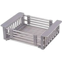 Extendable Dish Rack and Utensil Rack, 304 Stainless Steel Dish Rack Above Sink, Dish Drainer in Sink or Countertop