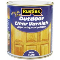 EAVS2500 Quick Drying Outdoor Clear Varnish Satin 2.5 Litre - Rustins
