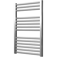 Greenedhouse - Extra High Heat Output Chrome Electric Towel Rail 500 x 800mm Curved Bathroom Radiator Heater