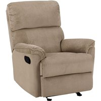 Modern Fabric Armchair Brown Polyester Upholstery with Footrest Everton
