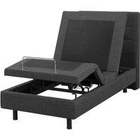 Beliani - Modern EU Single 2ft6 Electric Bed Adjustable Remote Control Linen Grey Duke