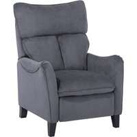 Beliani - Vintage Fabric Recliner Chair Manual Grey Polyester 3 Positions Royston