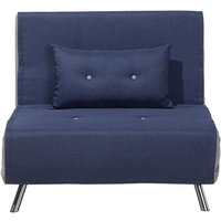 Beliani - Fabric Sofa Bed Blue FARRIS